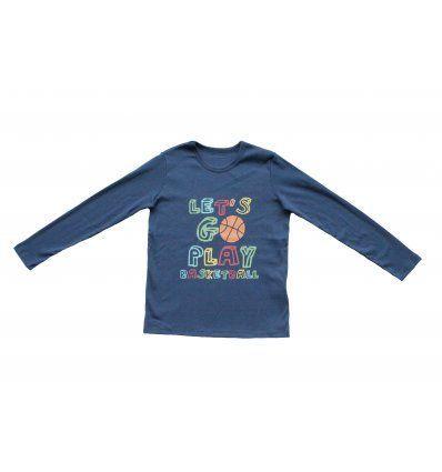 Dječaci - Majice dugih rukava - Majica traper plava - Basketball
