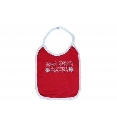 Bebe - Podbradnici - Podbradnik crveni - moj prvi Božić