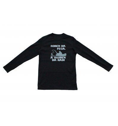 Muškarci - Majice - Majica crna - Rođen da peca, a osuđen da radi