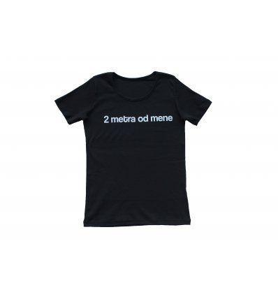 Žene - Majice kratkih rukava - Majica crna - 2 metra od mene