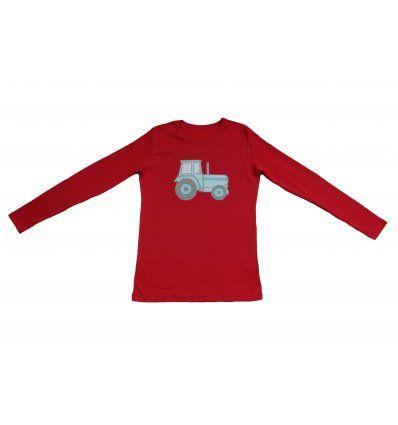 Dječaci - Majice dugih rukava - Majica crvena - Traktor
