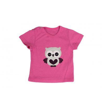 Bebe - Majice kratki rukav - Baby majica kratki rukav roza 'Sovica'