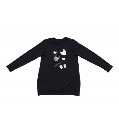 Žene - Tunike i haljine - Tunika sa pasicom crna - Meow