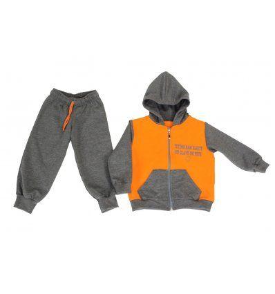 Dječaci - Trenirke - Trenirka tamno sivo-narančasta - Tetino sam dijete