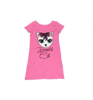 Djevojčice - Pidžame i spavaćice - Spavaćica roza maca