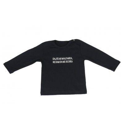 Bebe - Majice dugih rukava - Baby majica tamno plava - dajte mi malo mira