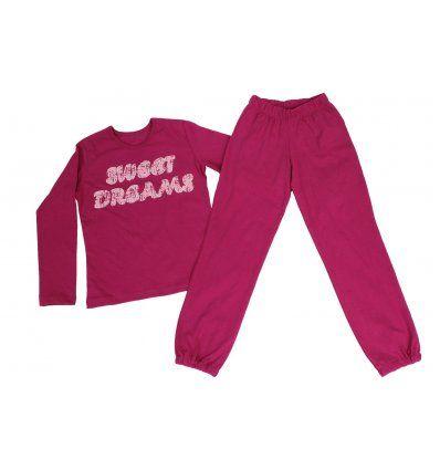 Djevojčice - Pidžame i spavaćice - Pidžama fuksija - sweet dreams
