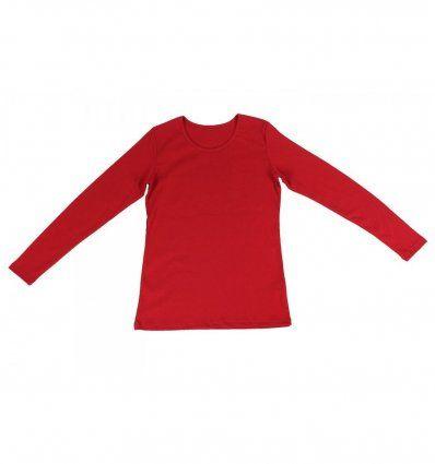Žene - Majice dugih rukava - Majica uska crvena