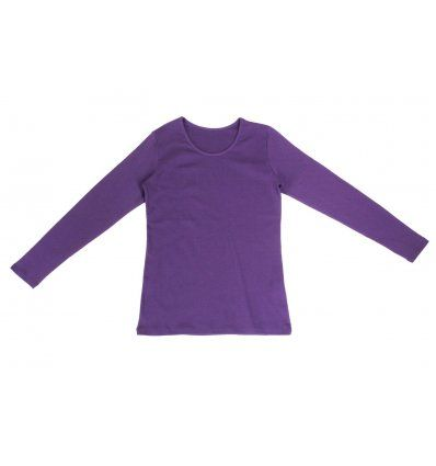 Djevojčice - Majice dugih rukava - Majica uska lila