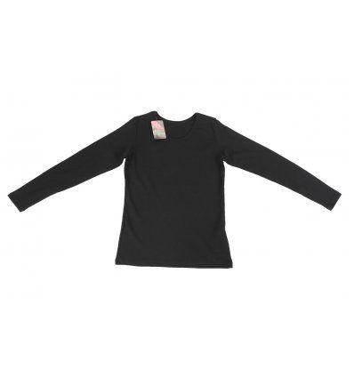 Djevojčice - Majice dugi rukav - Majica uska crna