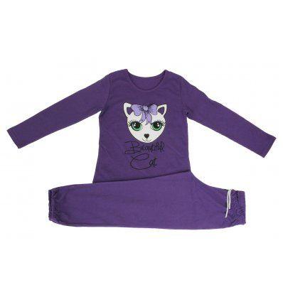 Djevojčice - Pidžame i spavaćice - Pidžama lila - beautiful cat