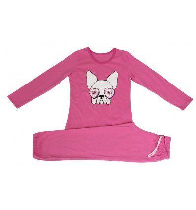Djevojčice - Pidžame i spavaćice - Pidžama roza - pas