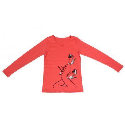 Djevojčice - Majice dugi rukav - Majica uska breskva - fashion