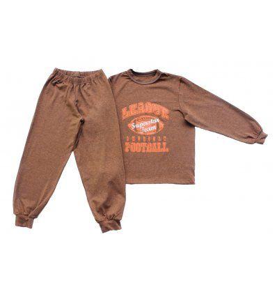 Dječaci - Pidžame - Pidžama melanž narančasta