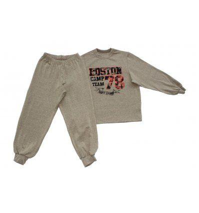 Dječaci - Pidžame - Pidžama melanž bež