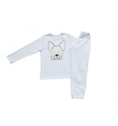 Djevojčice - Pidžame i spavaćice - Pidžama bijela pas