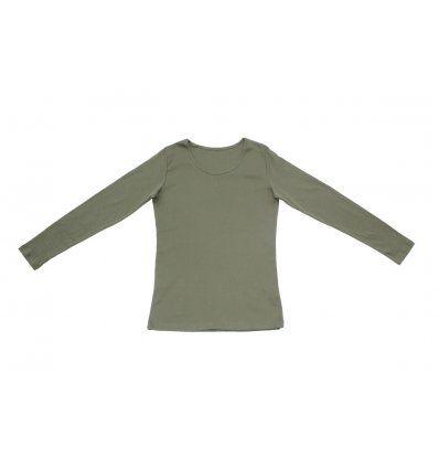 Žene - Majice dugih rukava - Majica uska maslinasta