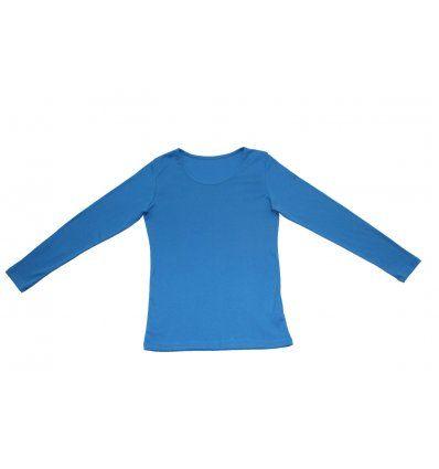 Žene - Majice dugi rukav - Majica uska svjetlo plava