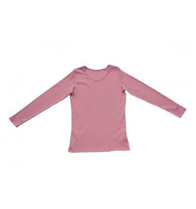 Žene - Majice dugih rukava - Majica uska prljavo roza