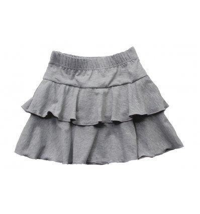 Djevojčice - Minice i haljine - Minica siva melanž