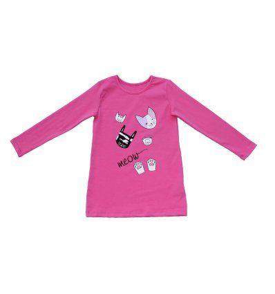 Djevojčice - Tunike - Tunika A kroja roza Meow