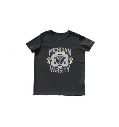 Dječaci - Majice kratki rukav - Majica tamno siva melanž Michigan