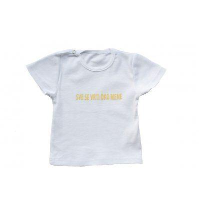 Bebe - Majice kratkih rukava - Baby majica bijela 'Sve se vrti oko mene'