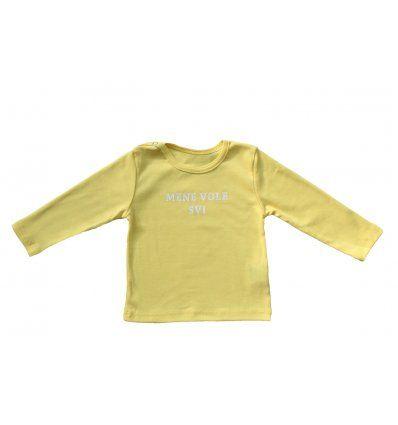 Bebe - Majice dugih rukava - Baby majica žuta 'Mene vole svi'