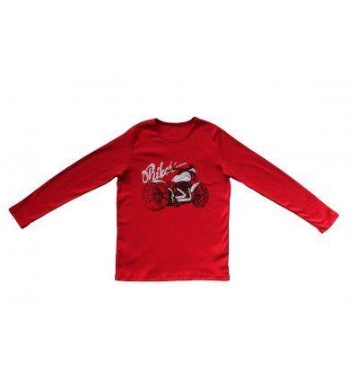 Dječaci - Majice dugih rukava - Majica crvena - Biker