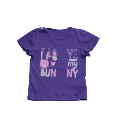 Bebe - Majice kratki rukav - Baby majica ljubičasta 'I love my bunny'