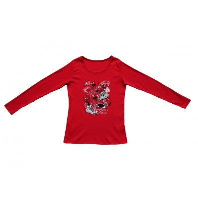Žene - Majice dugi rukav - Majica uska crvena - Tenisice