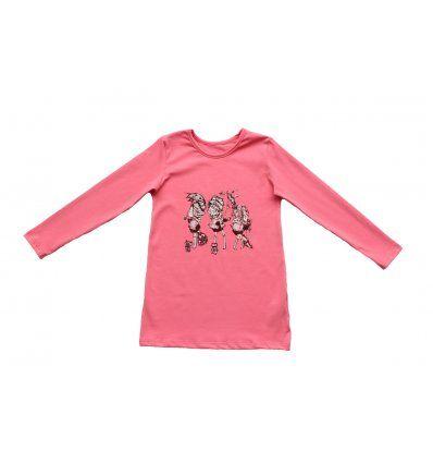 Djevojčice - Tunike - Tunika A kroja boje marelice - Cure sa kišobranima