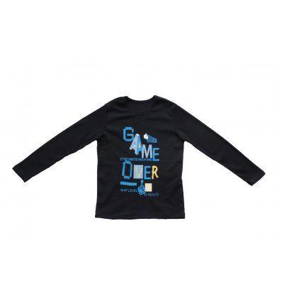 Dječaci - Majice dugih rukava - Majica tamno plava - Game over